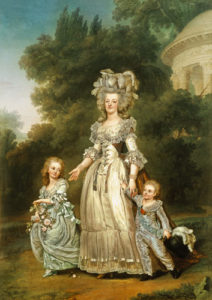 Marie Antoinette with children.